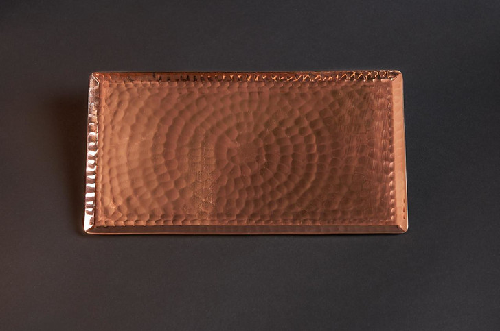 Hammered Copper Vanity or Valet Catchall Tray