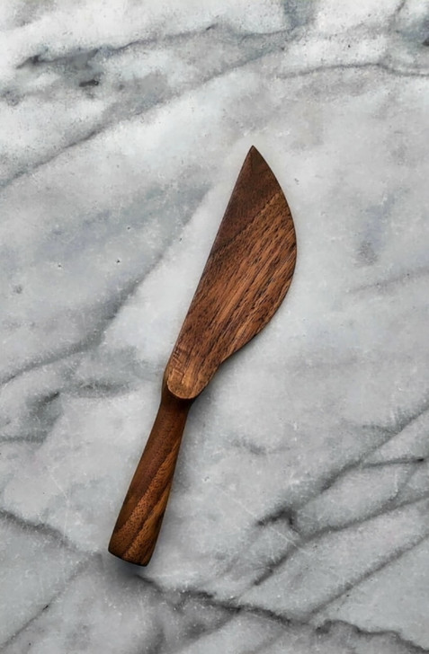 Handmade Wooden Butter Knife (Walnut) by Four Leaf Wood Shop