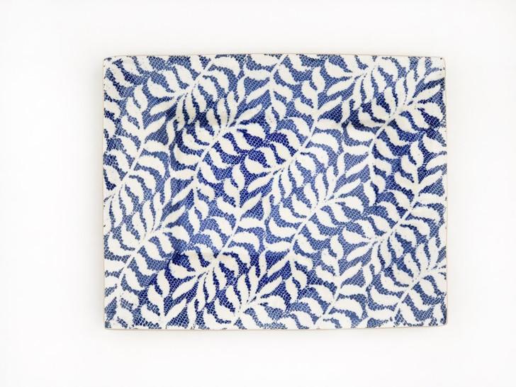 Handmade Ceramic Charcuterie Tray (Cobalt Blue/Fern) by Terrafirma Ceramics