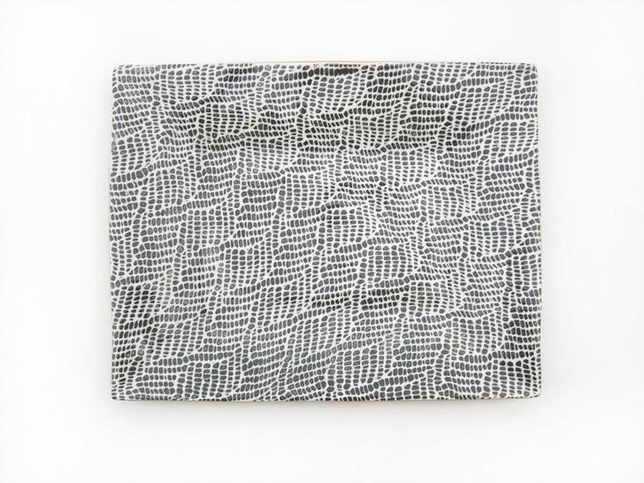 Handmade Ceramic Charcuterie Tray (Charcoal/Braid) by Terrafirma Ceramics