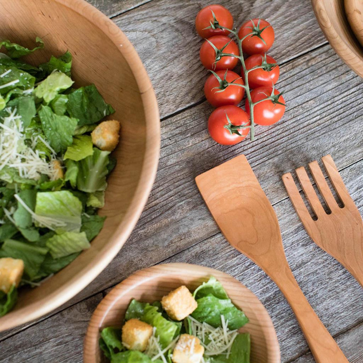 Featured Handmade Wooden Salad Bowls By Rockledge Farm Woodworks