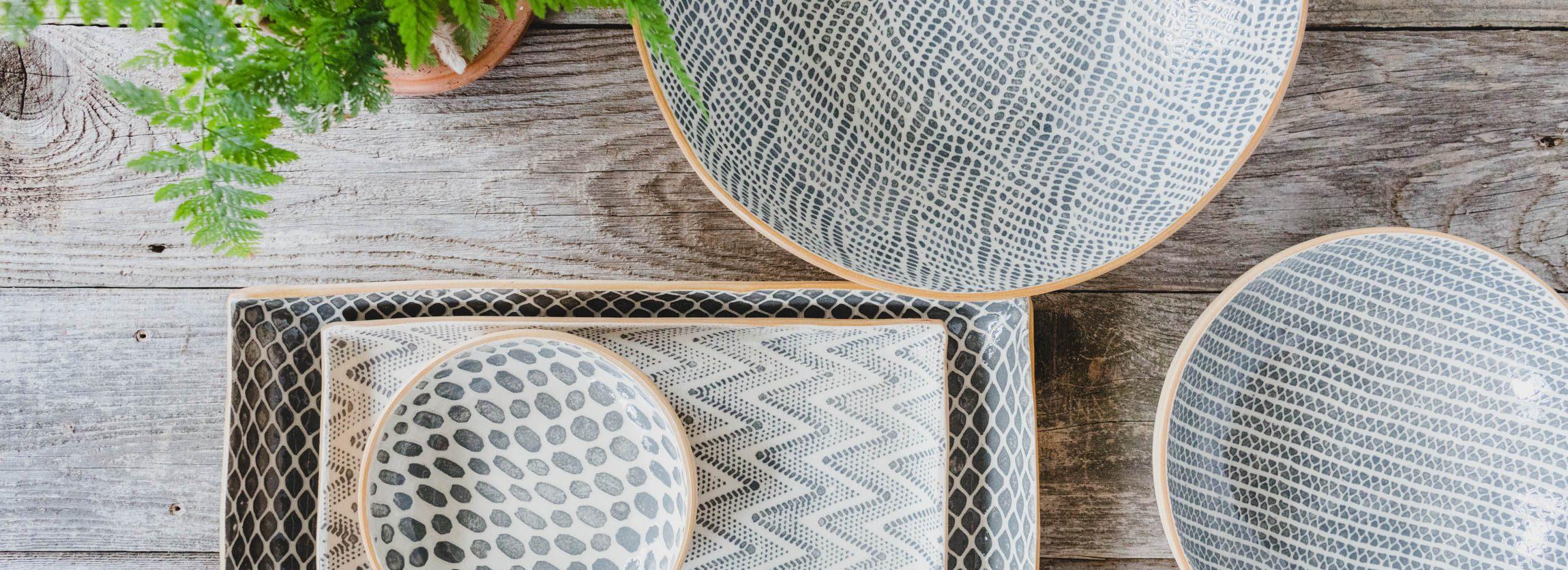 Terrafirma Ceramics Charcoal Bowls and Platters