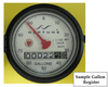 Sample Register Dial in Gallons - T10-DR