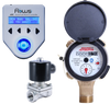 Batching System with Positive Displacement Water Meter and Solenoid Valve
