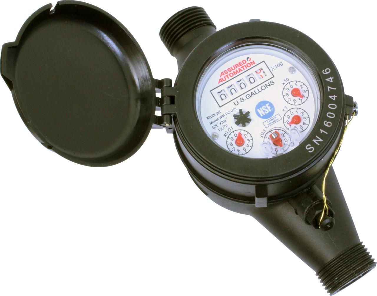 Assured Automation WM-PC Series Plastic Water Meter 1//2