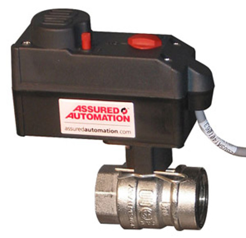 Nickel Plated Brass Actuated Ball Valve