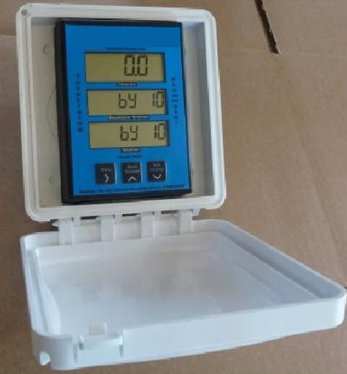 Sun shade to protect digital display on WM-PT Series meters