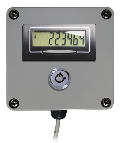 Remote Digital Display with Lockable Reset Button for Apartment Water Meters
