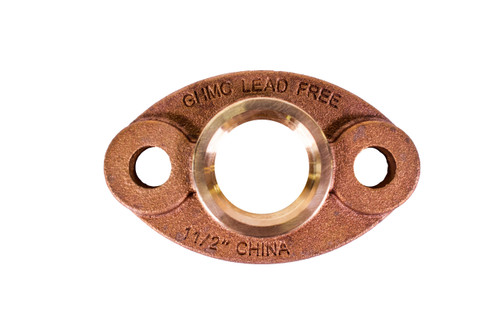 """Lead Free Bronze Oval Flange Kit (1 1/2"""" and 2"""")"""
