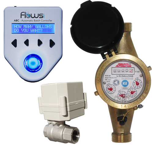 Batching System with Lead Free Brass Multi-jet Water Meter and Ball Valve