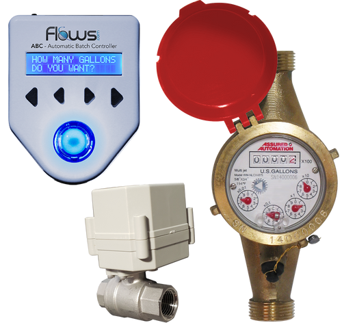 Batching System with Multi-jet Hot Water Meter and Ball Valve