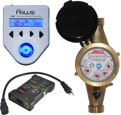 Batching System with Lead Free Brass Multi-jet Water Meter and Pump Control Relay