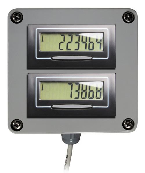 Dual Digital Display for Water Meters