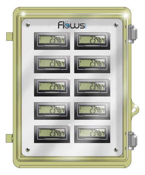 Lockable Weatherproof box for Multiple Digital Water Meter Displays