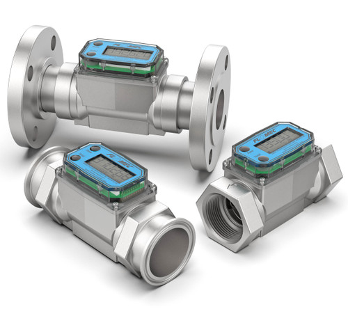 NPT, Tri-clamp, and RF Flanged Turbine Flow Meters
