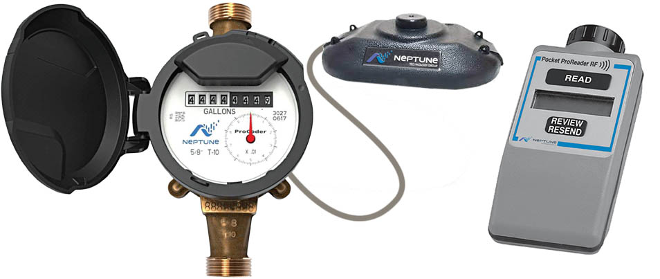 mobile home park water meter reading system