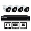 Night Owl IH802-84BA 8-Channel 4K UHD Wired Smart Security NVR w/ 2 TB Local Storage, 4-4K UHD IP Camera Security System