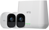 Arlo Pro VMS4230-100NAR Security System with Siren, 2 Rechargeable Wire-Free HD Cameras with Audio, Indoor/Outdoor, Night Vision and Works with Alexa - Certified Refurbished