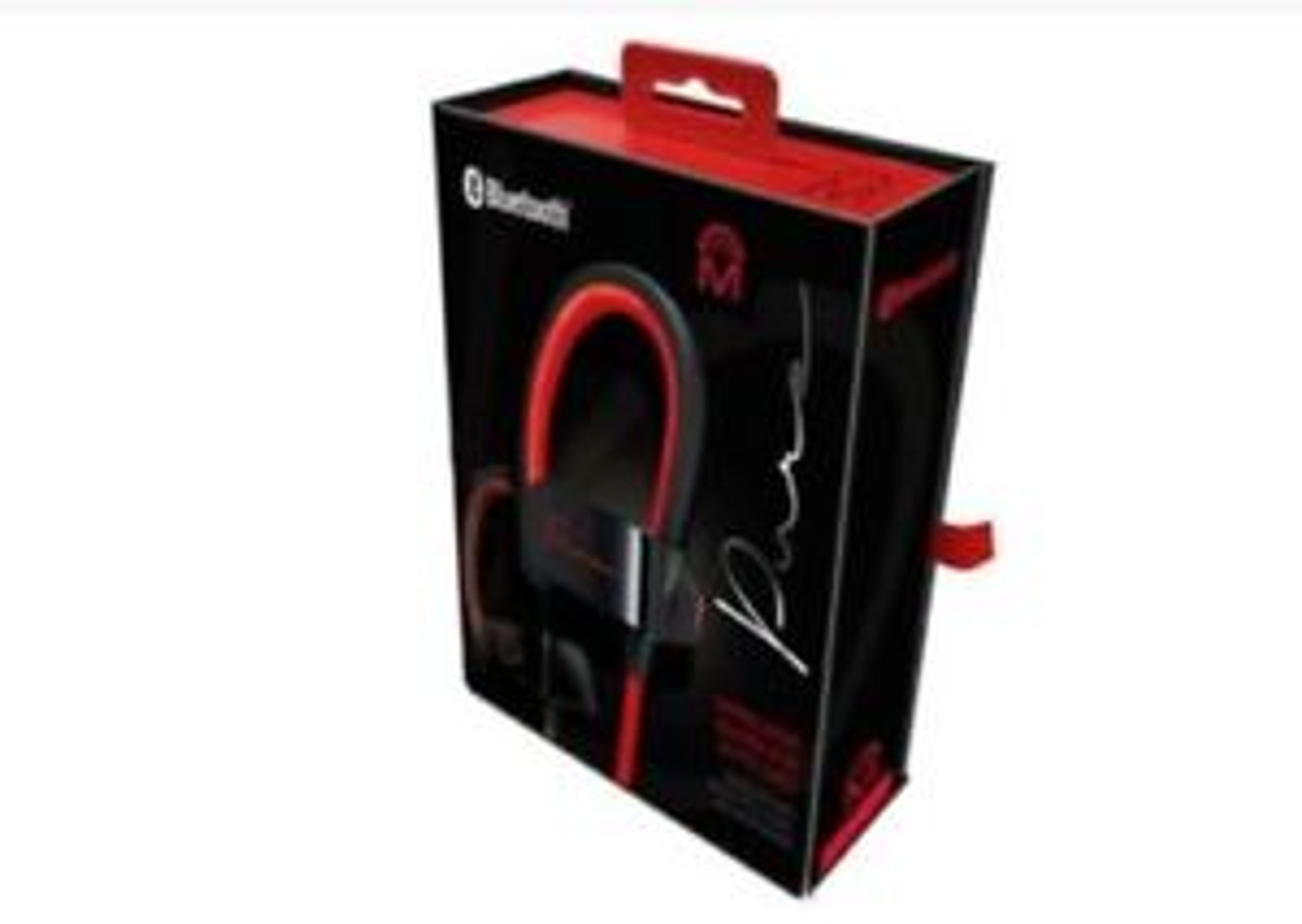 Mental Beats 72324 Pure Wireless Earbuds with Mic Red/Black