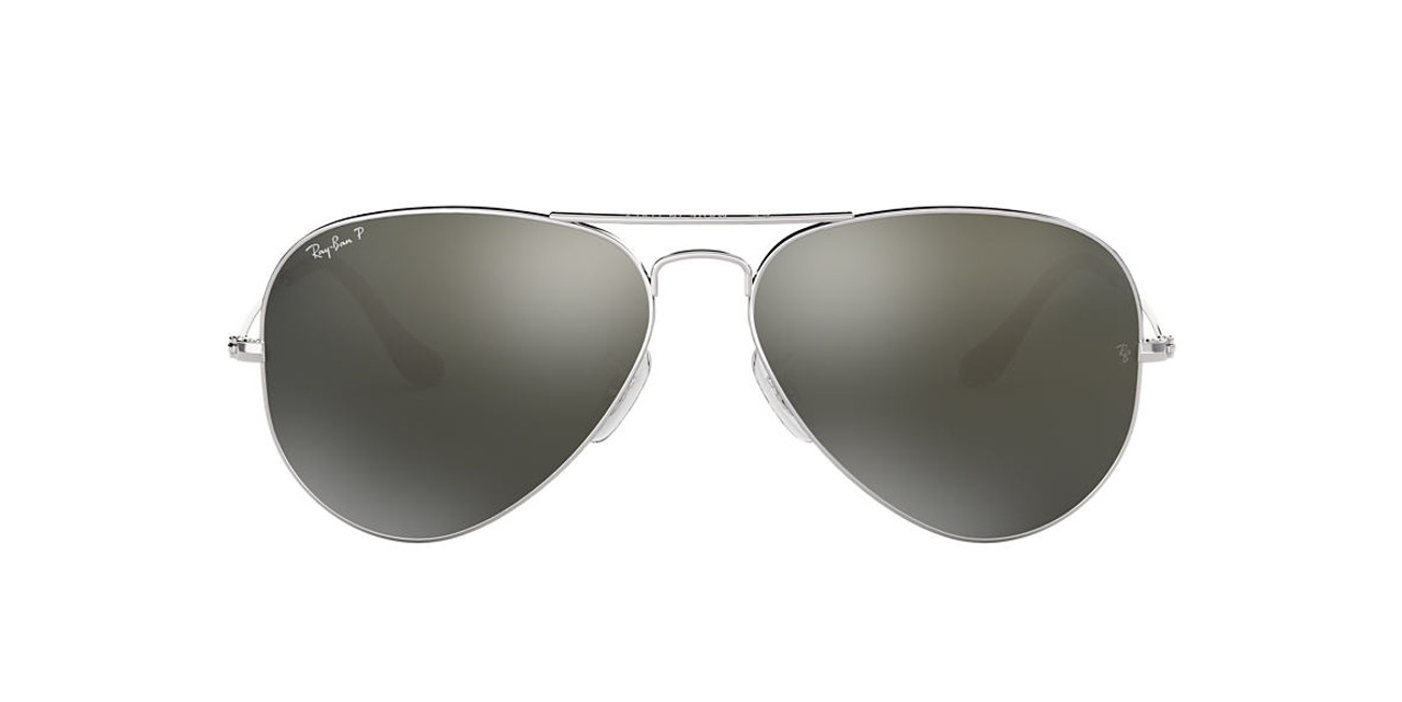 Ray Ban Aviator  RB3025-W3277-58-14 Silver Mirror Sunglasses