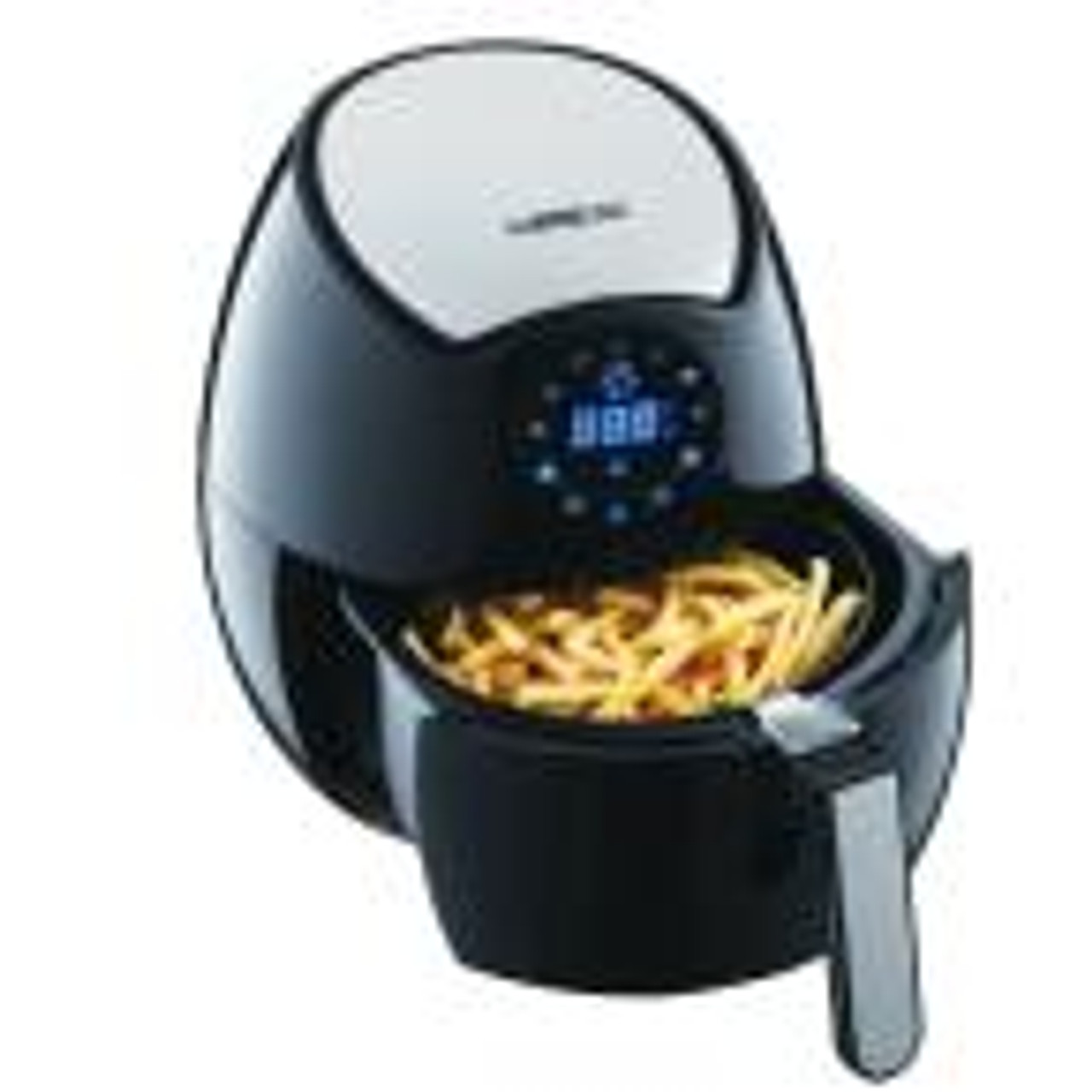 GoWISE USA GW22621 3.7-Quart 7-in-1 Programmable Digital Touchscreen Air Fryer with Recipe Book - Black