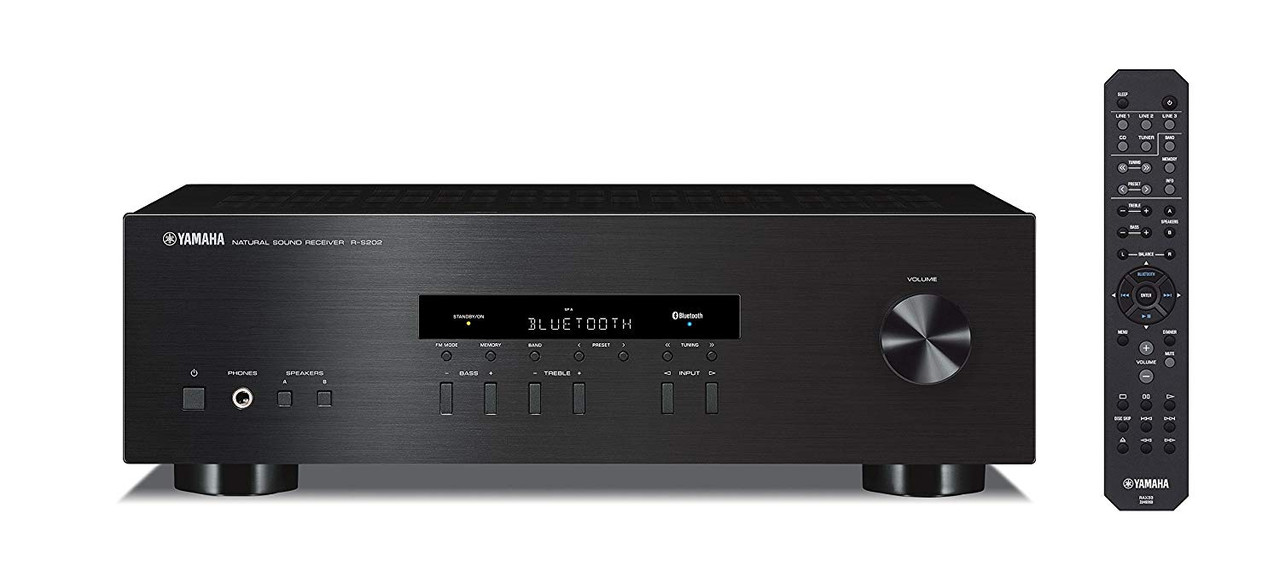 Yamaha R-S202BL-R Natural Sound Stereo Receiver - Certified Refurbished