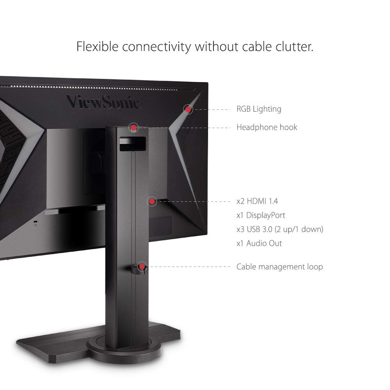 "ViewSonic XG240R-R 24"" 16:9 144 Hz FreeSync Gaming LCD Monitor - C Grade Refurbished"