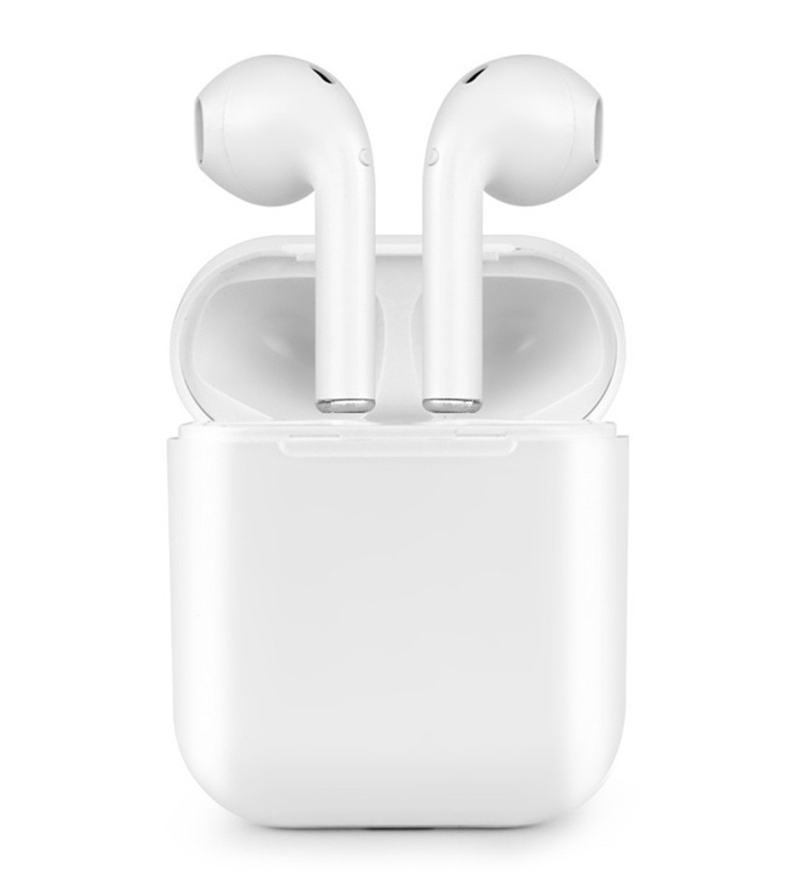 App-EV01192WHT v4.2 HD Stereo Sound Bluetooth Earbuds with Charging Case (White)