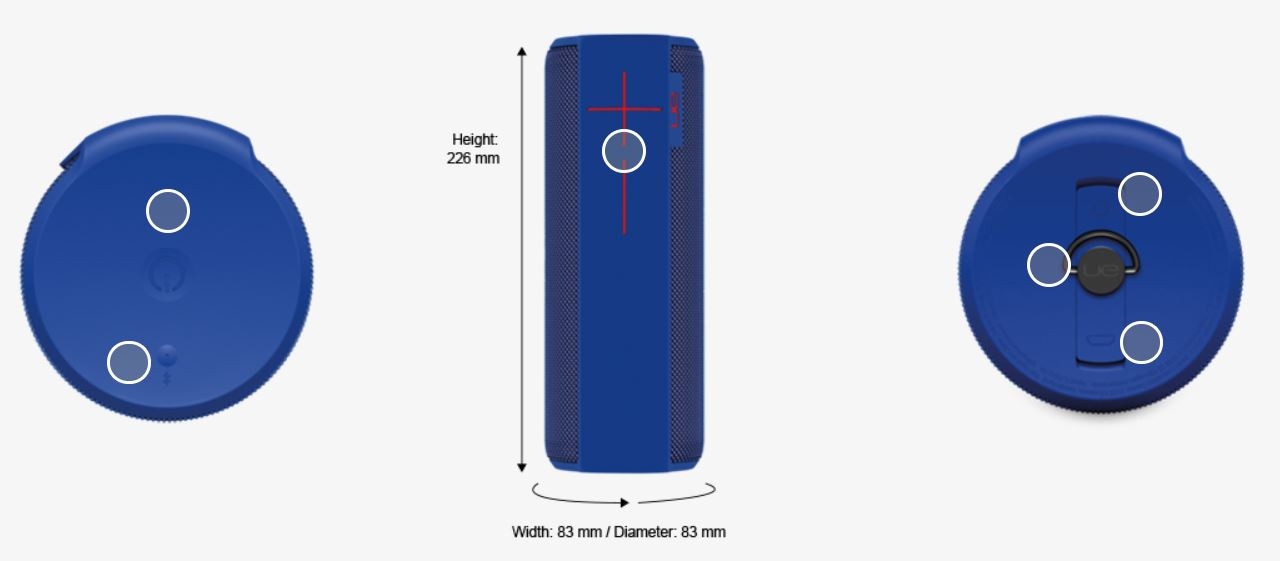 UE S984-000478X-R MEGABOOM Wireless Bluetooth Speaker, Blue - Certified Refurbished