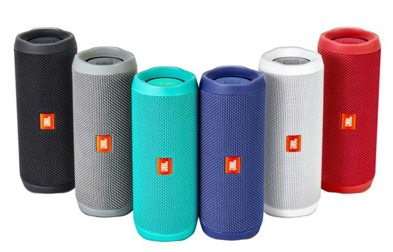 Certified Refurbished JBL FLIP 4 Gray Portable Bluetooth Speaker