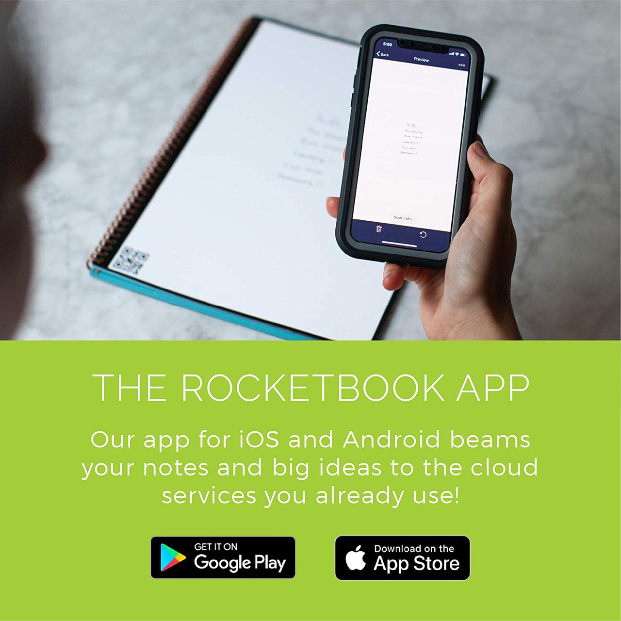 Rocketbook Beacons BEA-A4-K Reusable Stickers to Upload Your Whiteboard Notes to The Cloud