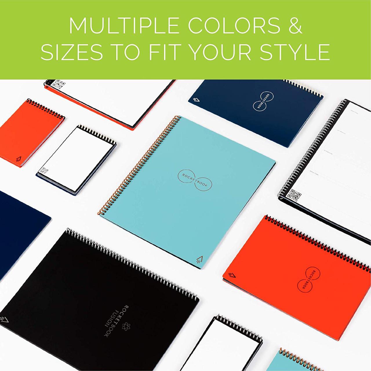 Rocketbook EVR-L-K-CLF Everlast Smart Reusable Notebook with Pen and Microfiber Cloth, Letter Size, Orange