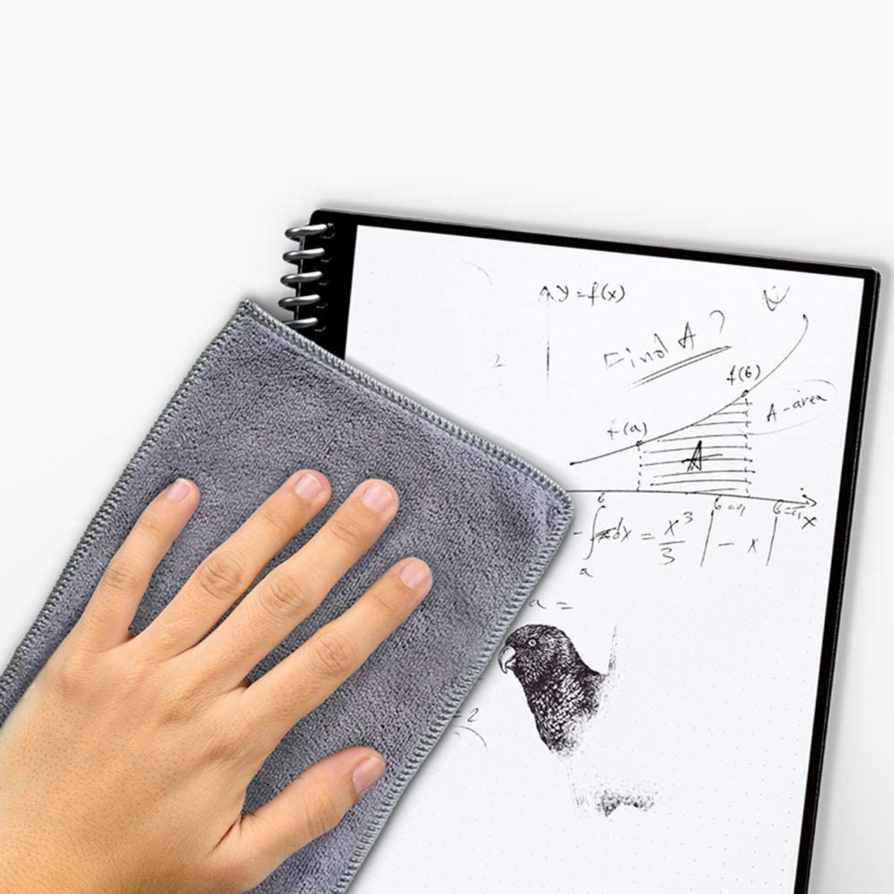 Rocketbook EVRF-E-K-CDF Fusion Smart Reusable Notebook with Pen and Microfiber Cloth, Executive Size, Dark Blue