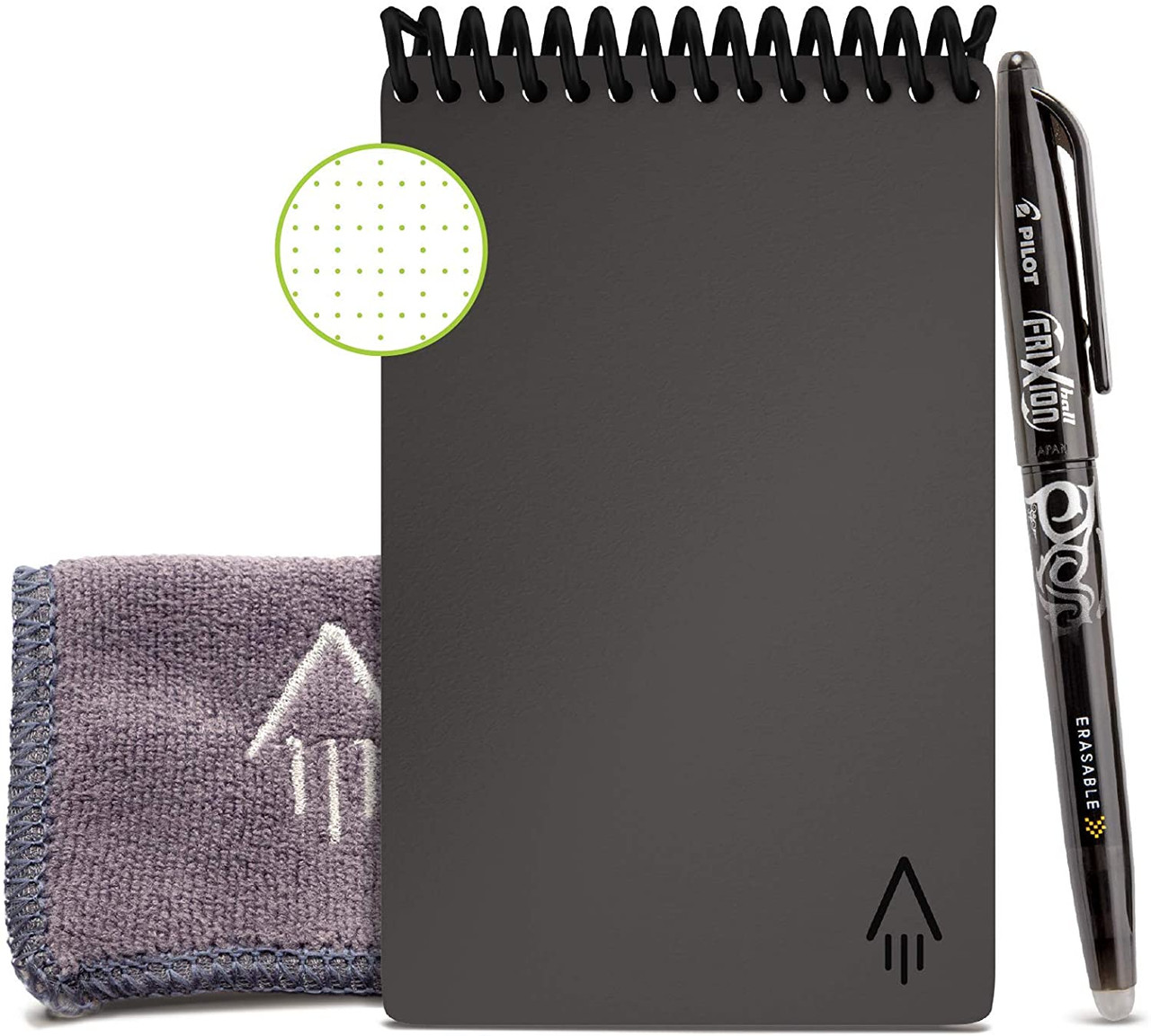 Rocketbook EVR-M-K-CIG Everlast Mini Smart Reusable Notebook with Pen and Microfiber Cloth, Space Gray