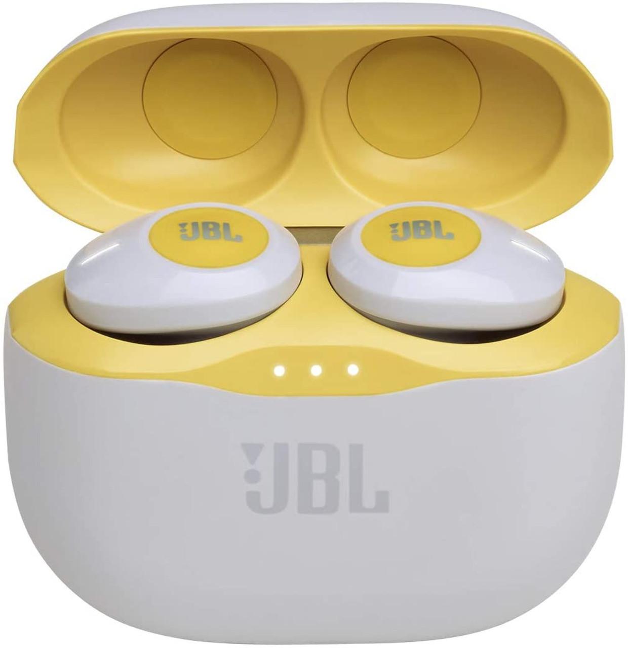 JBL JBLT120TWSYELAM-Z TUNE Wireless Headphones- 120TWS, Yellow- Certified Refurbished