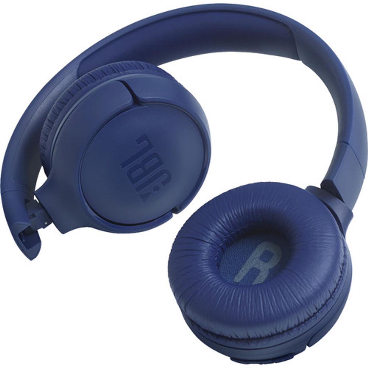 JBL JBLT500BTBLUAM-Z Tune 500BT Wireless On-Ear Headphones, Blue – Certified Refurbished