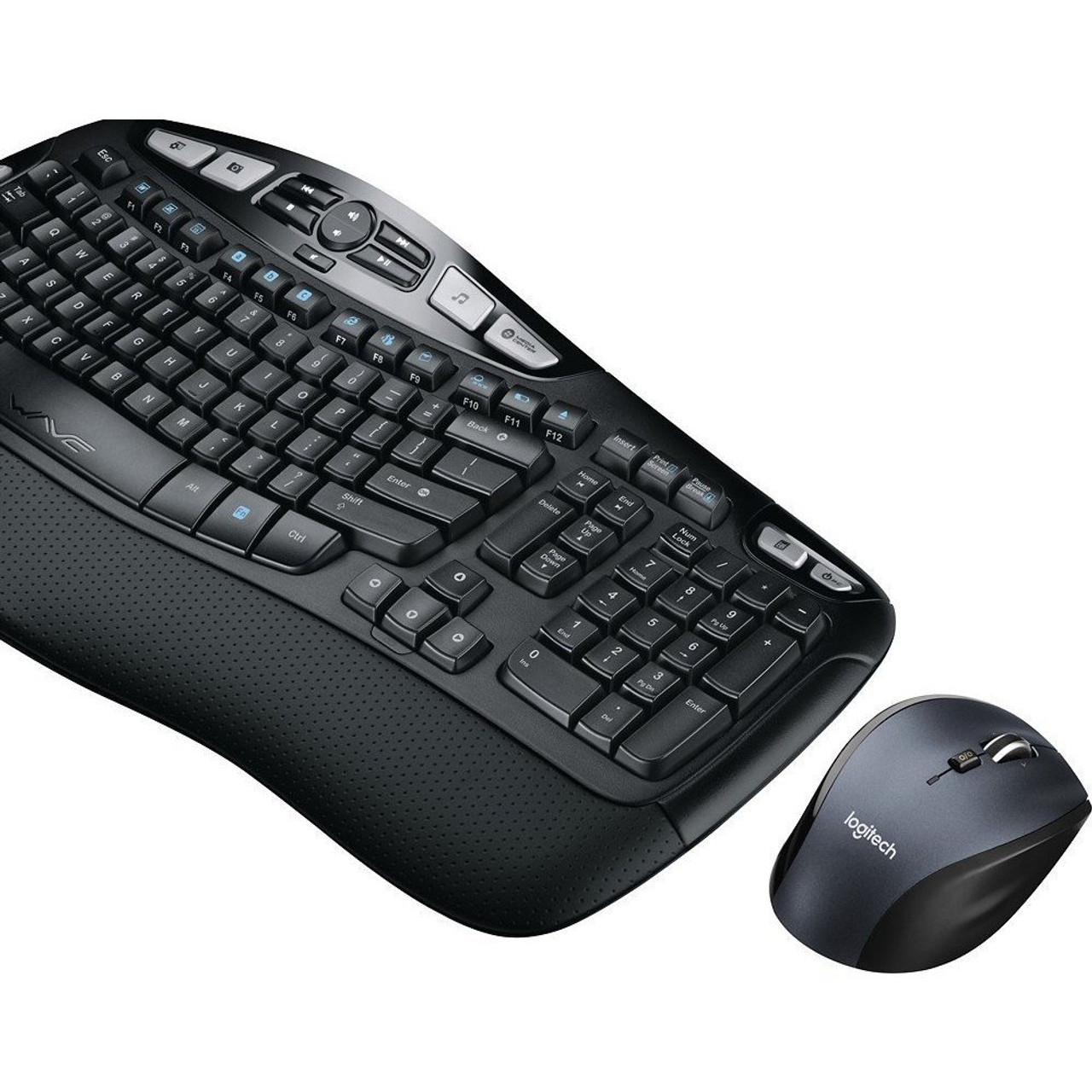 Logitech MK570 Comfort Wave Wireless Keyboard and Optical Mouse - Refurbished