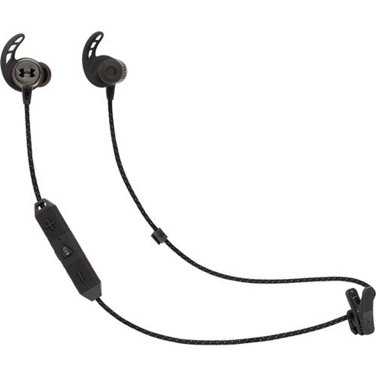 UnderArmor Blutooth Headphones by JBL  UAJBLREACTBLKAM-Z, Black - Certified Refurbished