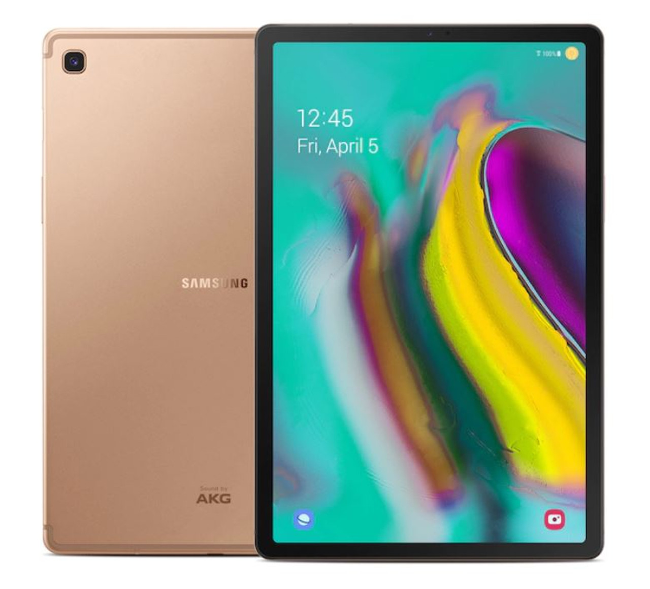 """Samsung SM-T720NZDLXAR-RB Gold 10.5"""" Galaxy Tab S5e 128GB WiFi Android Tablet- Certified Refurbished"""