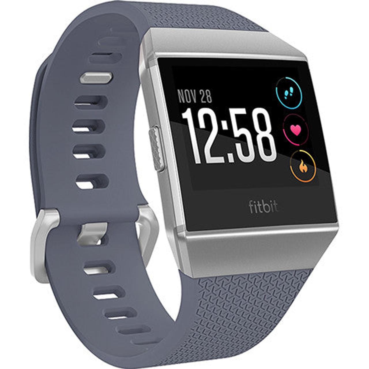Fitbit FB503WTGY-LA Ionic Fitness Watch, Blue Gray/Silver Gray