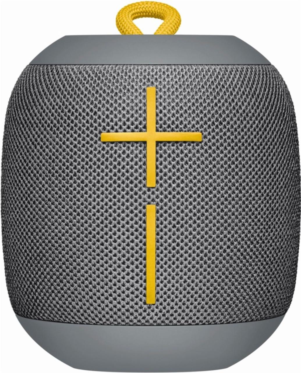 UE WONDERBOOM 984-000844 Portable Waterproof Bluetooth Speaker, Stone Gray Black - Refurbished