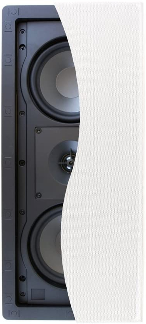 Klipsch K1014128 R-2502-W II In-Wall Speaker, White, Each