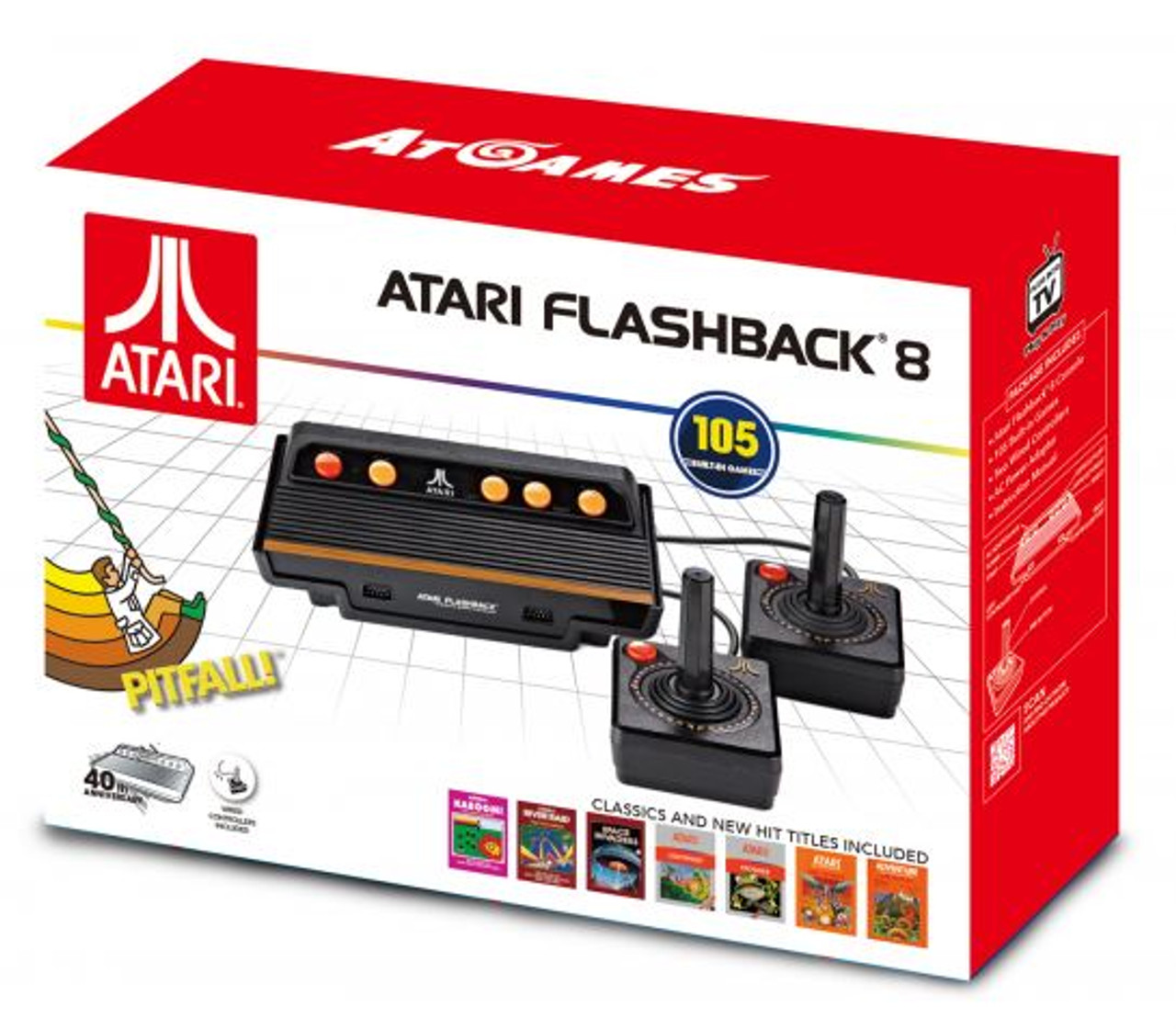 Atari Flashback 8 Classic Game Console 105 Built-in Games
