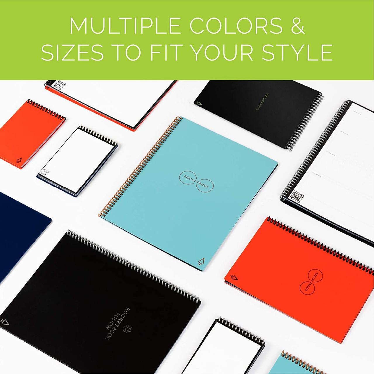 """Rocketbook FLP-L-K-A Flip Letter Smart Notebook, 32 Pages, 8.5"""" x 11"""", Black"""