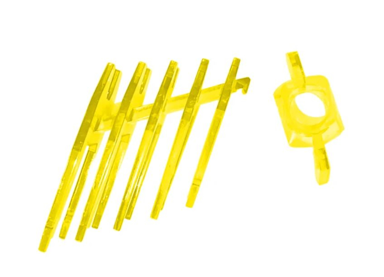 Gel Blaster TFP0002 Barrel Tip and Fin Pack, Yellow