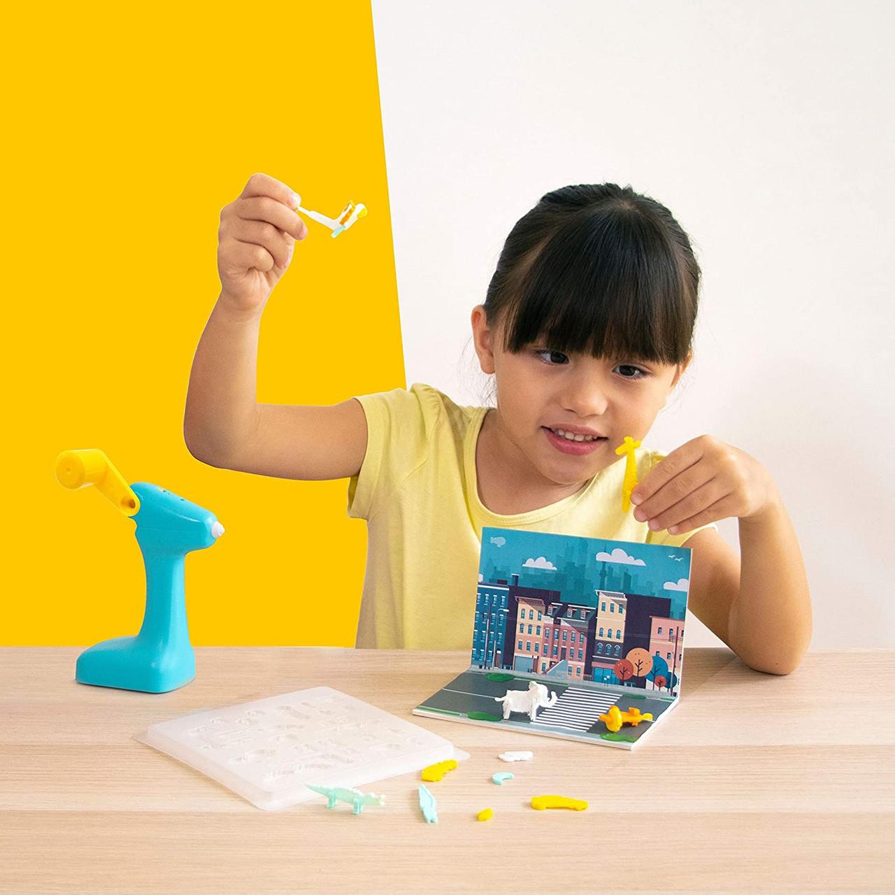 3Doodler 0JPSJUBE1R-B1 3D Build and Play 3D Printing Pen Bundle 4 Refill Kits