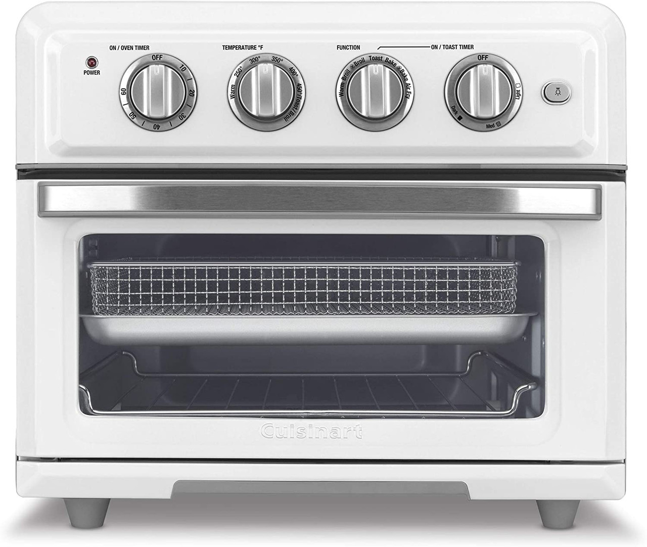 Cuisinart TOA-60WFR Airfryer Convection Toaster Oven White Certified Refurbished