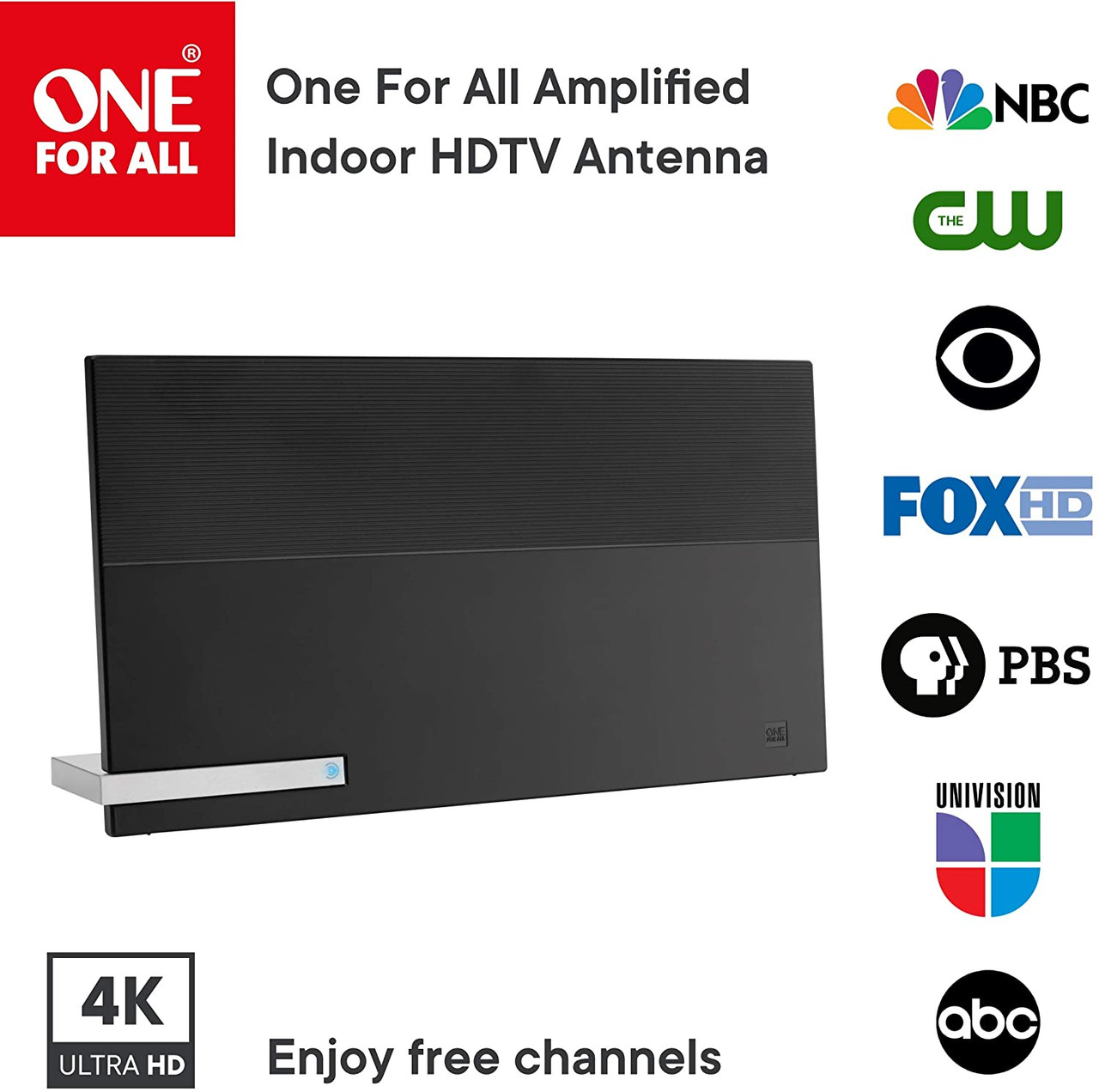 One For All U16424 Amplified HDTV 4K Antenna Over the Air TV Channels