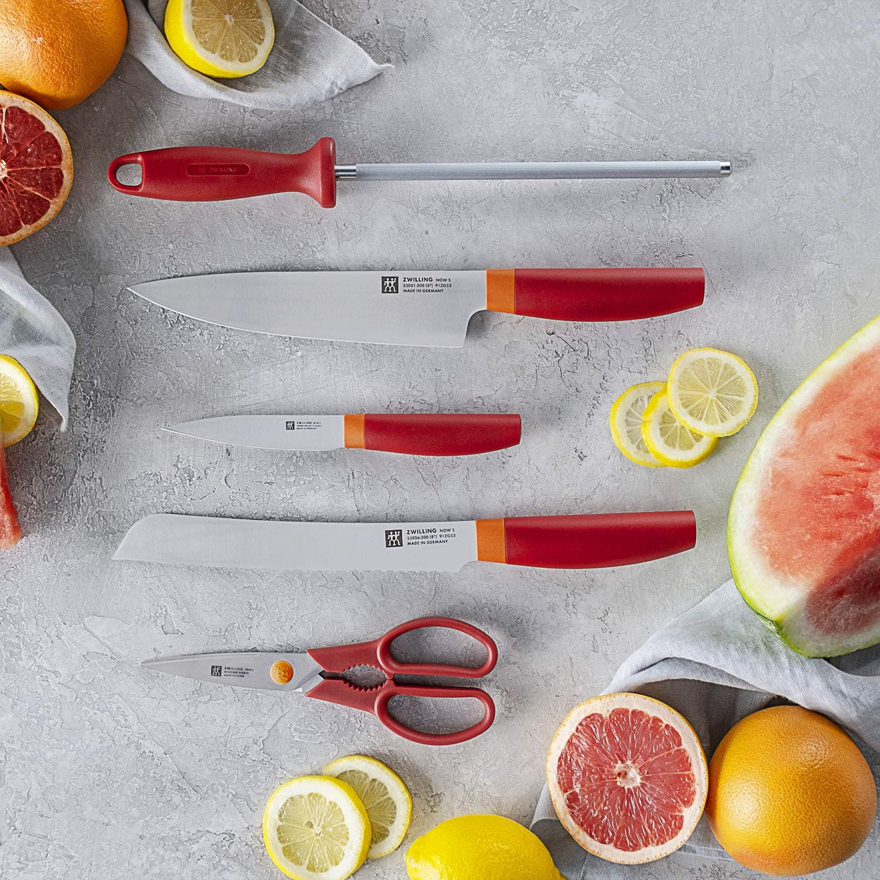 Zwilling Henkel Z53030-110 Now S Knife Block Set 6pc Orange