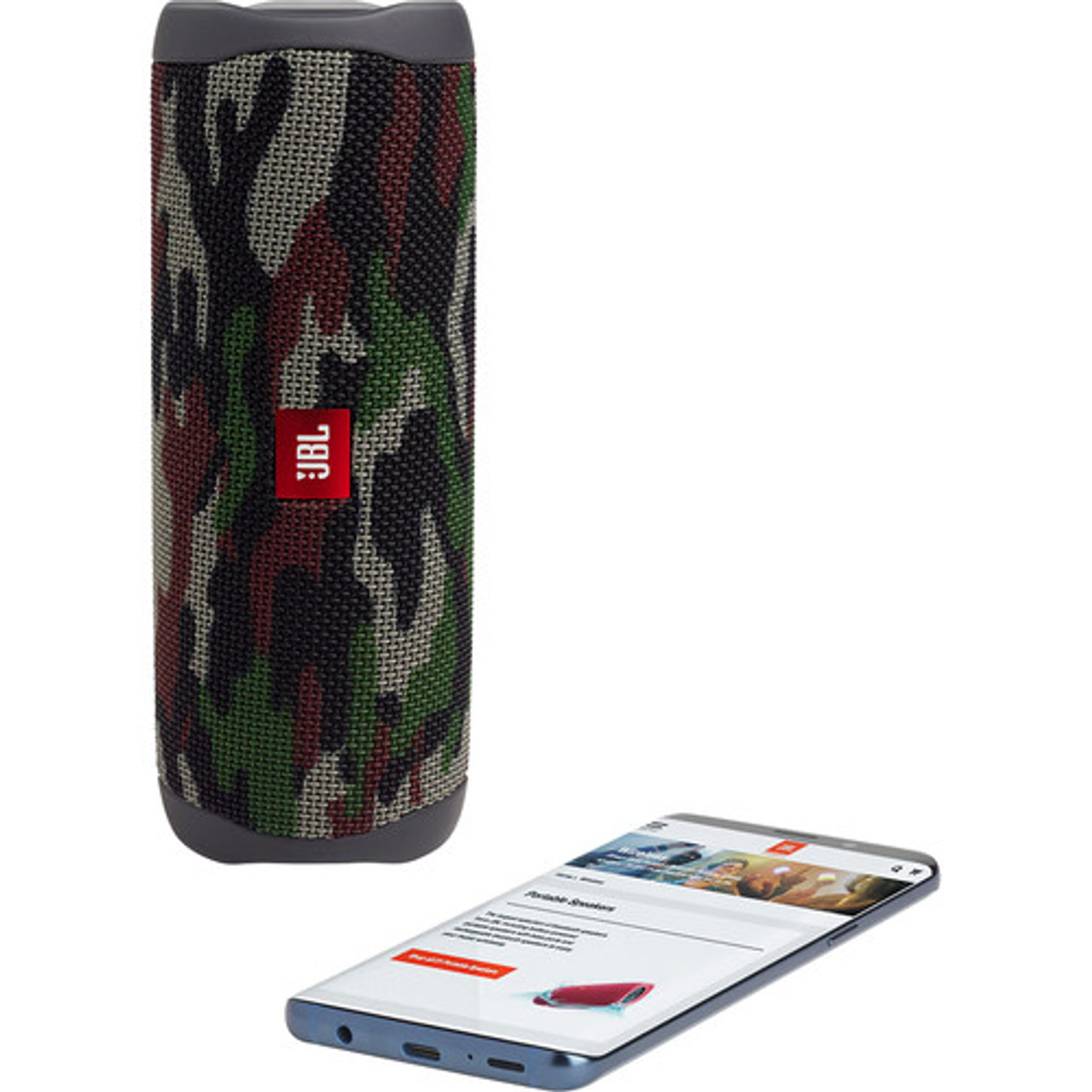 JBL JBLFLIP5SQUADAM-Z FLIP 5 Waterproof Speaker Camo - Certified Refurbished